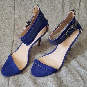 Zara strappy electric blue heels